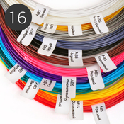 Пластик для 3D ручки, набор из 16 цветов